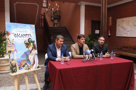 Carnival 2019 Poster Los Gigantes of Santiago del Teide presented by its Ayuntamiento and designed by Jonás Emanuel from Puerto de la Cruz