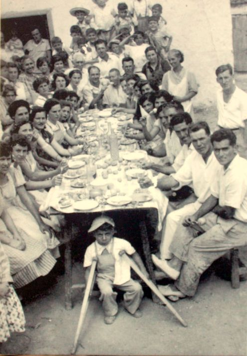 Potato fiesta in Los Realejos in the first decades of XX.