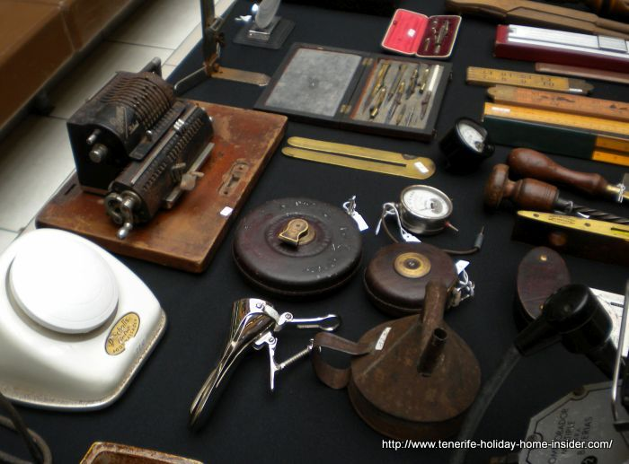 Precision instruments, some of which are antique and rare.
