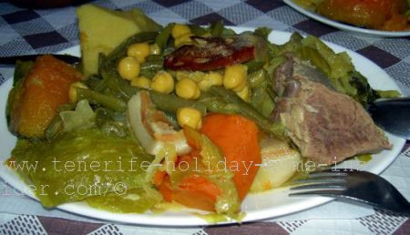 A stew of mixed meats and mixed vegetables