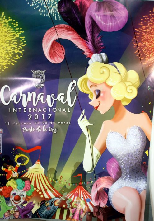Tenerife Puerto de la Cruz Carnival Poster 2017