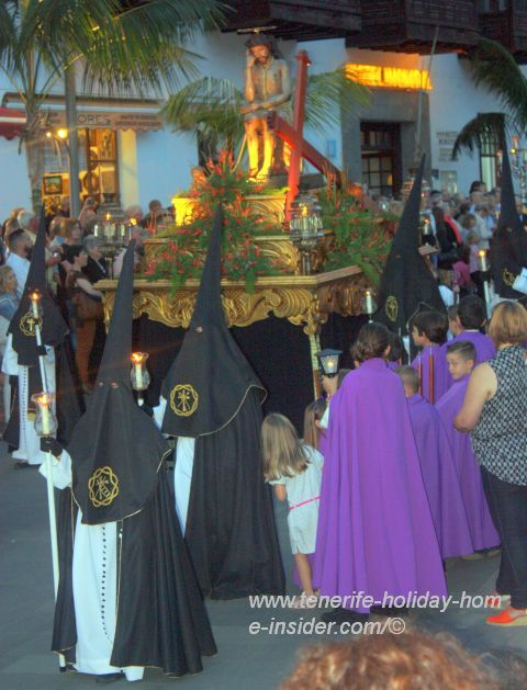 Puerto de la Cruz put newly on the map by the big Tenerife Easter Procession the Magna of Viernes Santo in best surroundings.