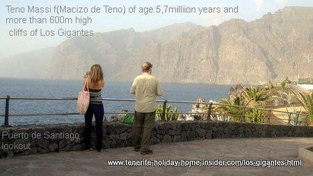 Puerto Santiago look-out towards the giant cliffs