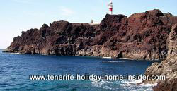 Punta Point most westerly coastal outcrop of Tenerife with lighthouse