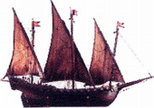 purple sailing vessel Los Gigantes