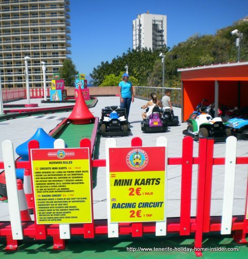 Racing circuit for mini carts at a Puerto de la Cruz children Park in Tenerife.
