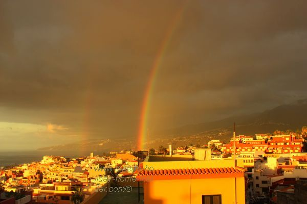 Orotava Valley i.e.bay rainbow of May 2017 seen from Toscal Los Realejos.