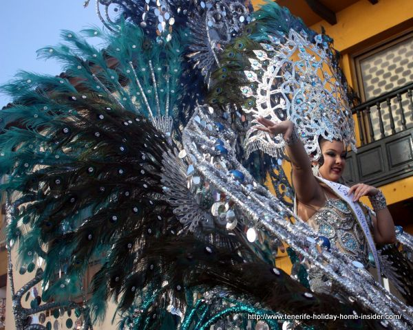 Raquel Galvan Pestaille International Carnival queen of Puerto Cruz in 2017.