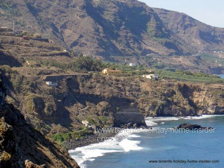 Realejos insider beach La Fajana  for surfing