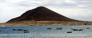 Red mountain the Montana Roja of El Medano of Granadilla de Abona