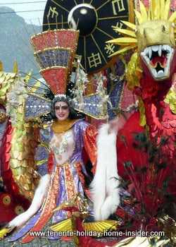 Reina carnaval child queen Santa Cruz Tenerife