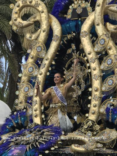 Queen Reina Carolina of Carnival Puerto de la Cruz in 2019
