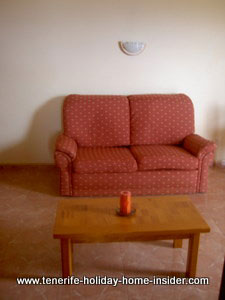 Resort apartment sofa