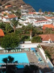 Resort property Tenerife 04 view balcony to pool
