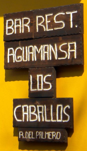 Restaurant name change includes bar with Los caballos added on to Aguamansa