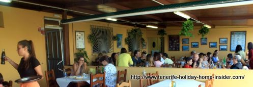 Restaurante Basilio of la Matanza which only has two big dining rooms.