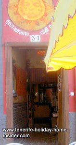 Restaurante Chill out bar of Santa Cruz Tenerife downtown in the party street.