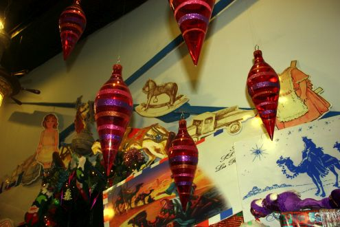 Restaurante Regulo Christmas decorations in its entrance in the season of 2017 to 2018.