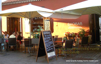 Restaurante Terraza Baobab of Tenerife capital