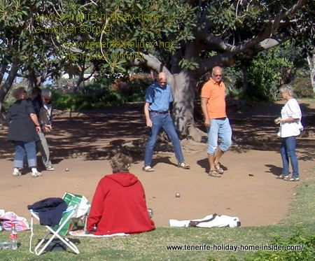 retiree sport Boules in Puerto de la Cruz Tenerife