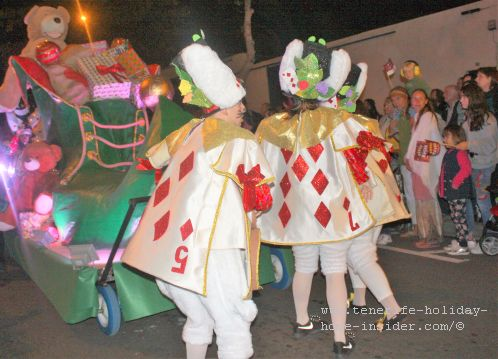 Reyes Magos Cabalgata parade Puerto de la Cruz with an almost carnivalesque appearance in some parts, such as here