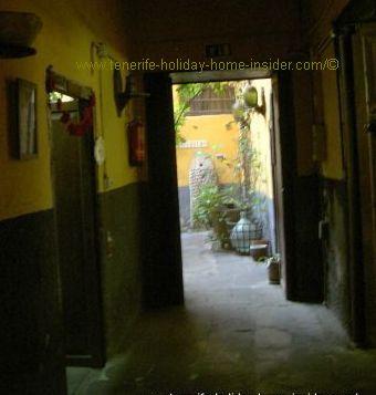 Romantic passage Rocamar of the Ocean view restaurant