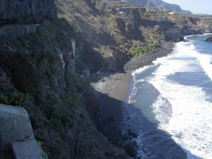 Romantic Tenerife beach Playa La Fajana for Surf