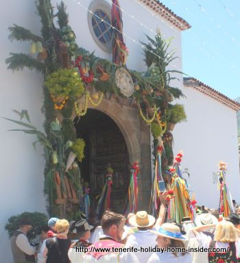 Romeria church outside decoration Realejo Alto.
