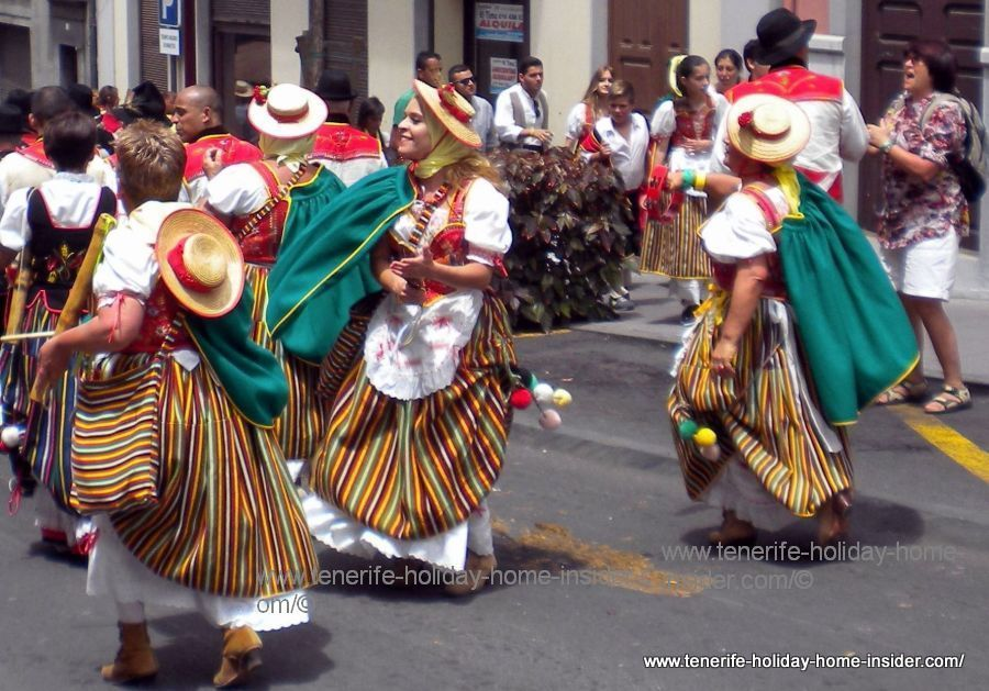Romeria dance in La Orotava