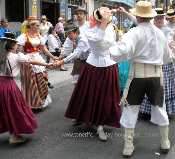 Romeria dancing with participants from a special guild