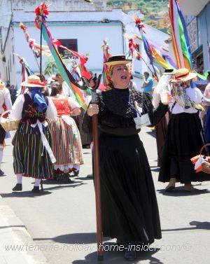 Romeria overseer of the elderly women who carry Santa Maria de la Cabeza.