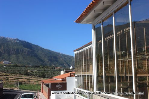 Route Active Hotel road view from La Longuera