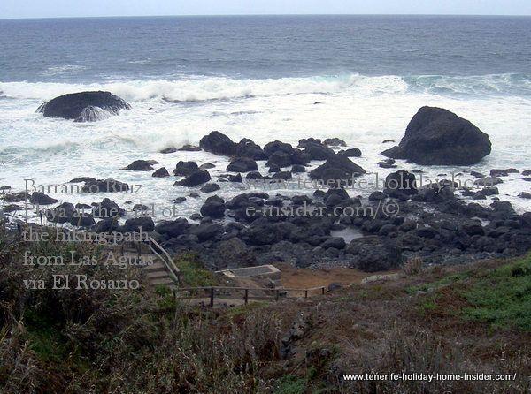 Ruiz Playa at the end of the hiking path Rambla del Rosario.