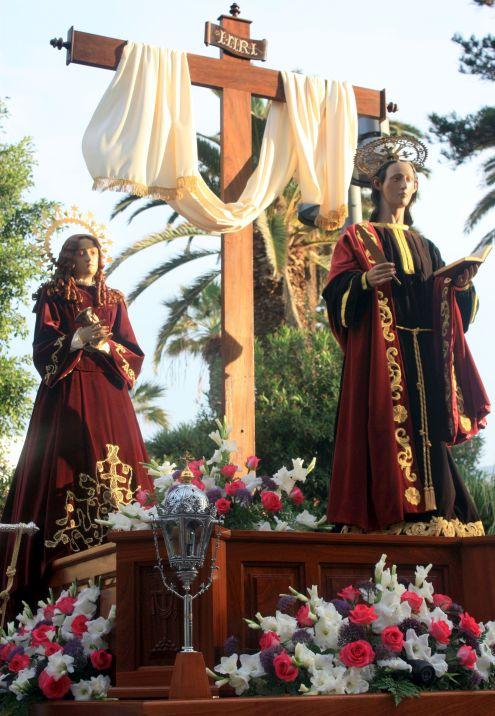 Sacred art in the street Calle Quintana Puerto Cruz.