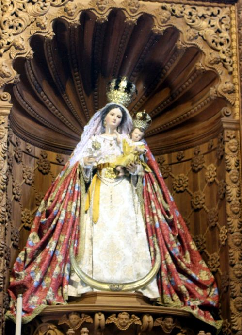 Sacred art of Madonna de Candelaria sculpture the Tenerife and Canarias patron.