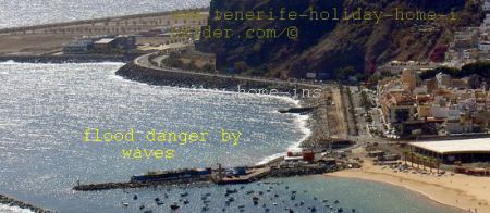 San Andres Bay with its beach promenade by Santa Cruz