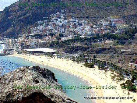San Andres Tenerife Spain with Las Teresitas beach.