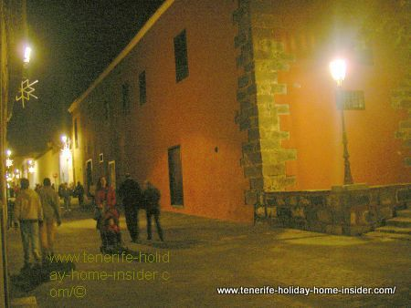 San Cristobal de la Laguna Christmas street in its old quarters.