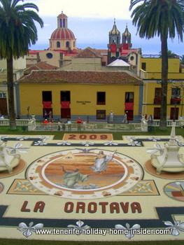 Sand art Corpus Cristi carpet La Orotava