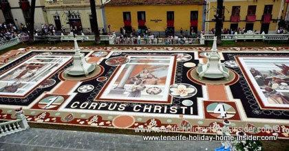 Sand carpet of 2014 La Orotava