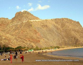 Santa Cruz de Tenerife beach of the capital