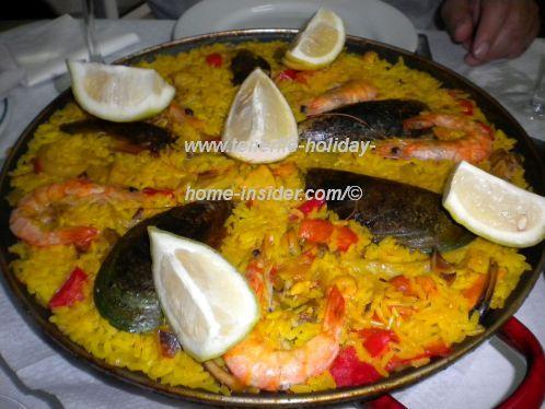 Seafood Paella by Bar Rubio of Caleta de Interian Los Silos Tenerife.