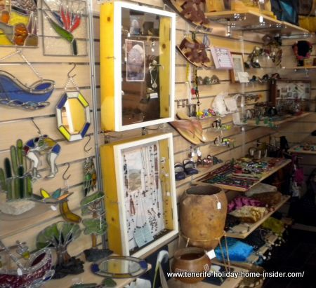 Shop display of handicrafts Tenerife