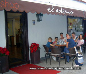 Shop el Aderno Tenerife and Cafe in La Paz Puerto de la Cruz