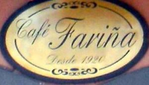 Signboard of cafe from 1920 in Calle Calvario number 14 of La Orotava.