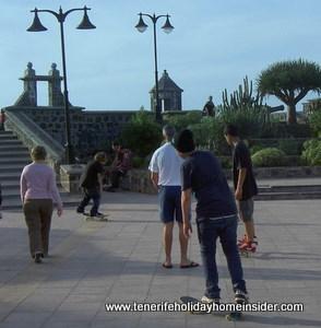 Tenerife skateboarding Puerto de la Cruz
