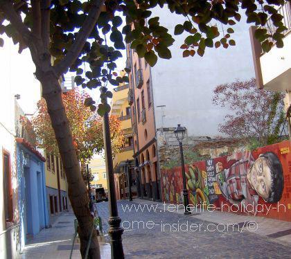 Spanish graffiti Tenerife street art Puerto de la Cruz