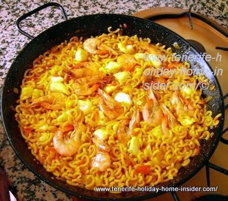 Spanish Paella Valenciana for beach fiesta
