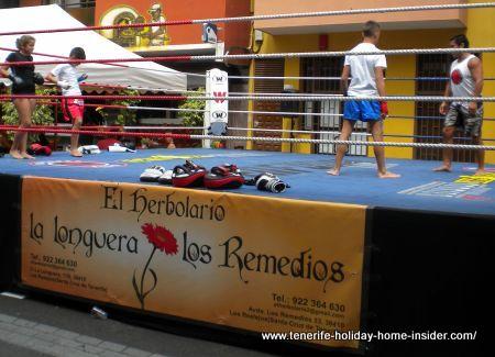 Sports podium in La Longuera