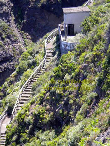 Stairway to Playa la Fajana below the Rambla de San Pedro of Los Realejos.